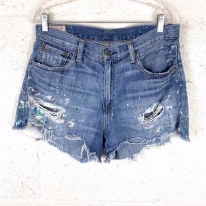 Polo Ralph Lauren Sz 30 Crosby Shorts Paint Splash